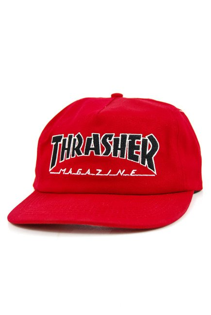 Czapka z daszkiem Thrasher - Outlined Snapback red