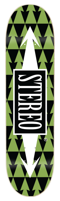 Deck Stereo - Arrows Pattern Green