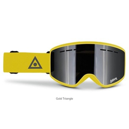 Gogle Ashbury - Mirage Gold Triangle + Yellow Free Lens