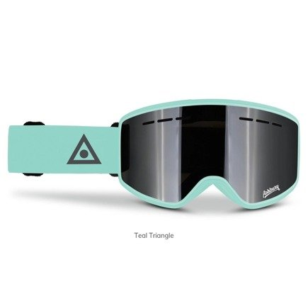 Gogle Ashbury - Mirage Teal Triangle + Yellow Free Lens