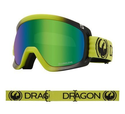Gogle Dragon D3 -  Lime/L.Green Ion + L.Amber Lens Free