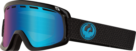 Gogle Dragon - D3 Split - LBlue Ion + L.Amber Free Lens