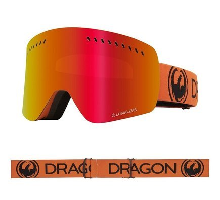Gogle Dragon NFXs - Tangerine/L.Red Ion + L.Rose Free Lens