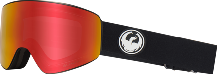 Gogle Dragon PXV - Black - L.Red Ion + L.Rose Free Lens