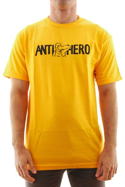 Koszulka Antihero - Face punch gold/black