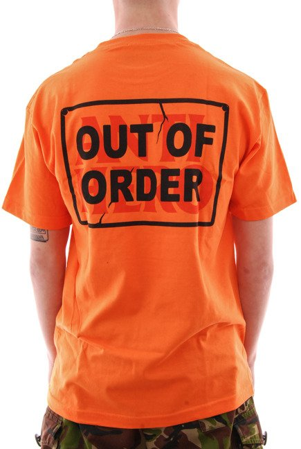 Koszulka Antihero - Out order orange/black