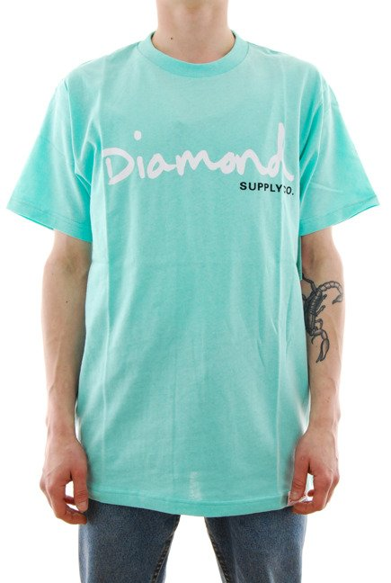 Koszulka Diamond Supply Co. - OG Script diamond blue