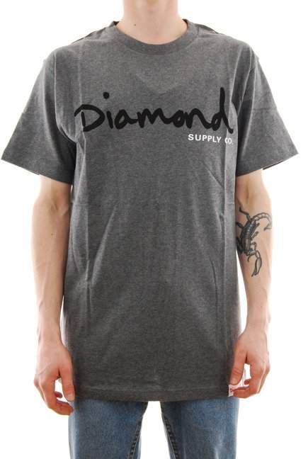 Koszulka Diamond Supply Co. - OG Script heather grey