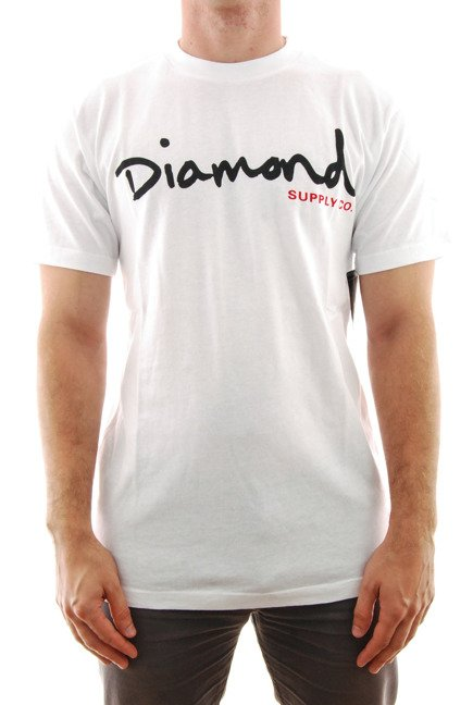 Koszulka Diamond Supply Co. - Og Script White
