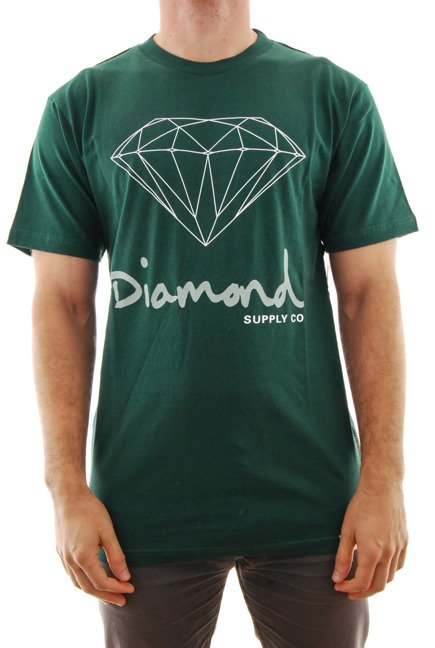 Koszulka Diamond Supply Co. - Og Sing Hunter Green