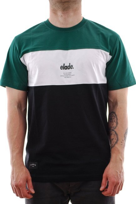Koszulka Elade - Colour Block green/white/black