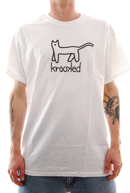 Koszulka Krooked - Big Cat white