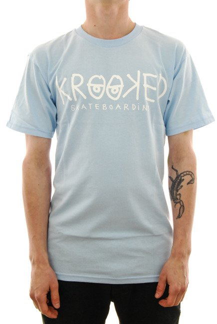 Koszulka Krooked - Krooked Eyes powder blue