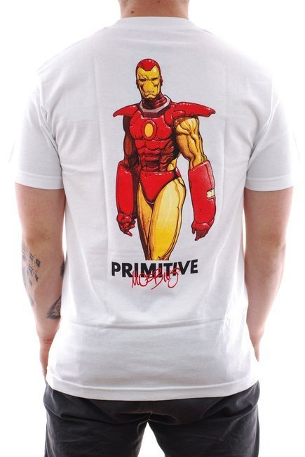 Koszulka Primitive x Marvel - Iron Man white