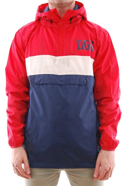 Kurtka DGK - Blacked Hooded Windbreaker Jascket Red