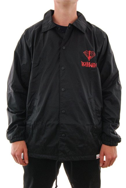 Kurtka Diamond Supply Co. - Diamond x Deathwish Coaches Jacket Black