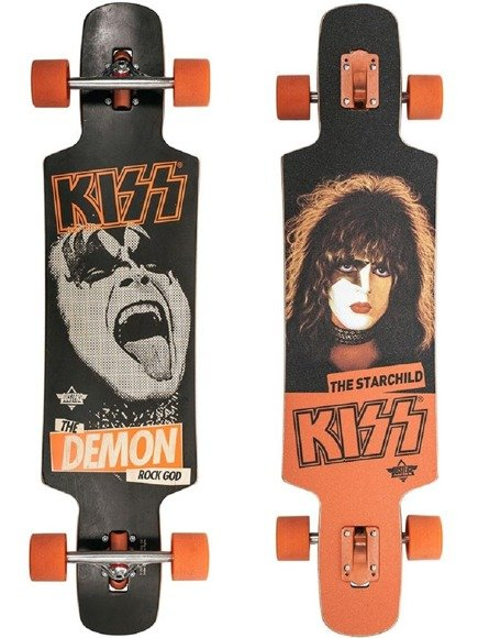 Longboard Dusters California - KISS Black/Orange 38,5""