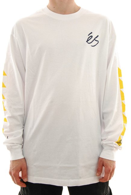 Longsleeve Es - Split Block white