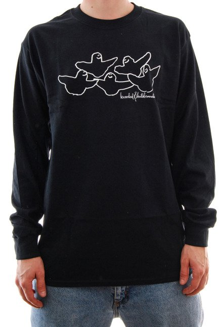 Longsleeve Krooked - OG Birds black