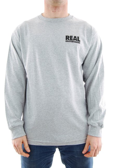 Longsleeve Real- R A.Heather/Black