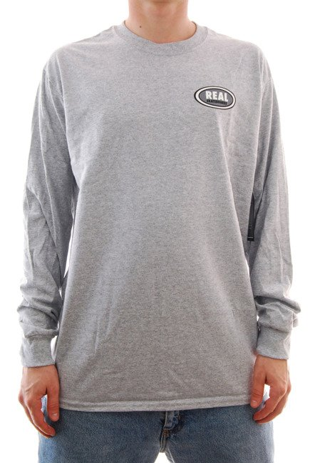 Longsleeve Real - Real Small Oval grey