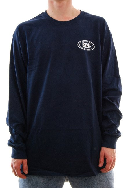 Longsleeve Real - Real Small Oval navy