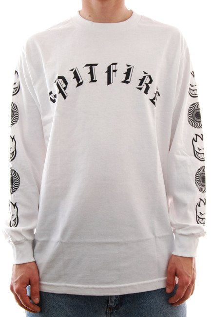 Longsleeve Spitfire - Old Combo white