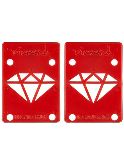 "Podkładki Diamond Supply Riser Pads 1/8"" Red"