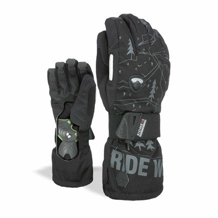 Rękawice snowboardowe Level - Fly Black-Grey Biomex