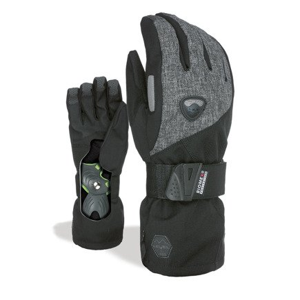 Rękawice snowboardowe Level - Fly Ninja Black Biomex