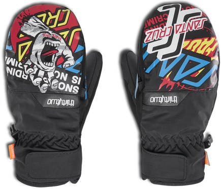 Rękawice snowboardowe Thirty Two - Screaming Mitt Black