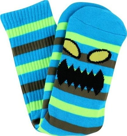 Skarpety Toy Machine -  Sect Monster Face Stripe Neon Crew