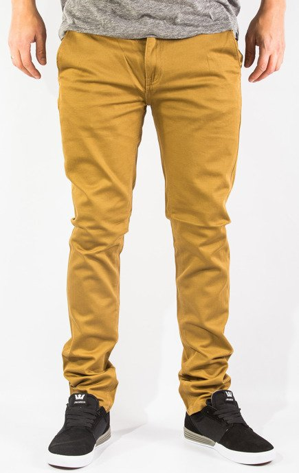 Spodnie Kr3w - K Skinny Chino Antique Brass
