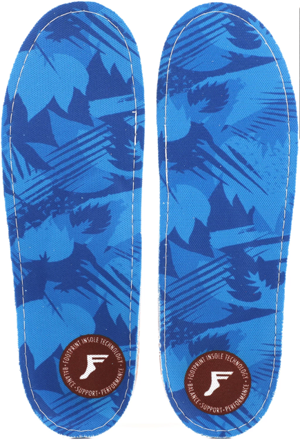 Wkładki do butów Footprint Insoles - Blue Camo Kingfoam Orthotic Low
