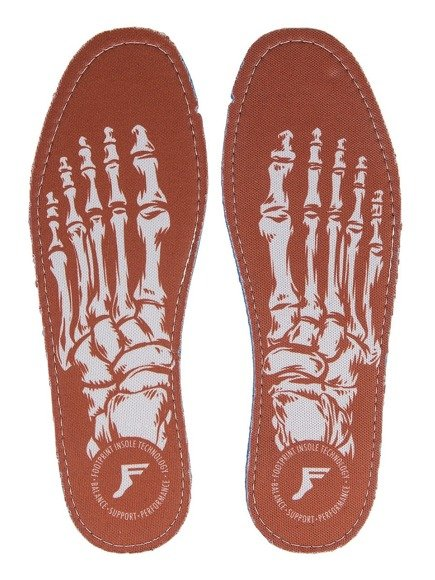 Wkładki do butów Footprint Insoles - Skeleton Red Kingfoam Flat