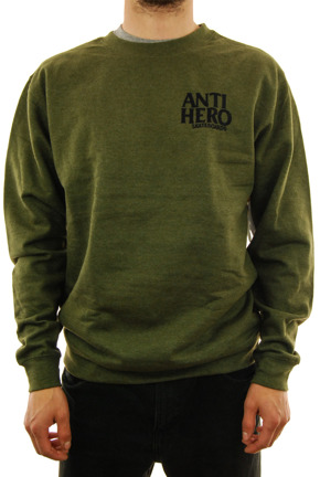 Bluza Antihero - Lil Black Hero Embroidered green