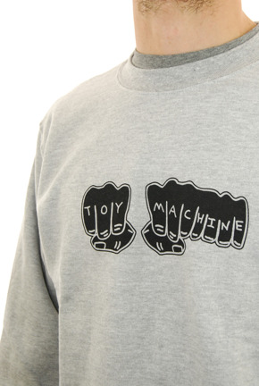 Bluza Toy Machine - Fists Crew grey
