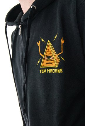 Bluza Toy Machine - Pyramid Zip Black