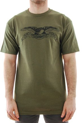 Koszulka Antihero - Basic Eagle Military Green/Black