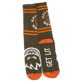 Skarpety Spitfire - Classic Bighead Socks Army/Orange/White