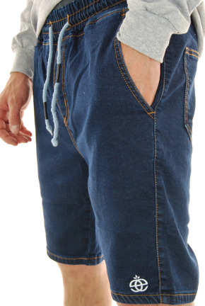 Szorty Elade - Jogger Shorts Blue Denim